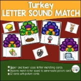 Beginning Letter Sound Turkey Matching