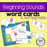 Beginning Sound Word Cards and Sorting Mats Literacy Center