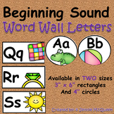 Beginning Sound Word Wall Letters: Simple and Clean