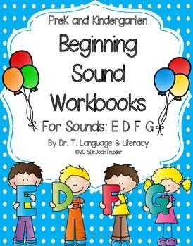 Beginning Sound Workbooks for Sounds E D F G (PreK & Kindergarten)