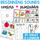 Beginning Sounds Printables and Centers