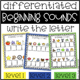 Beginning Sound Write the Letter Activity