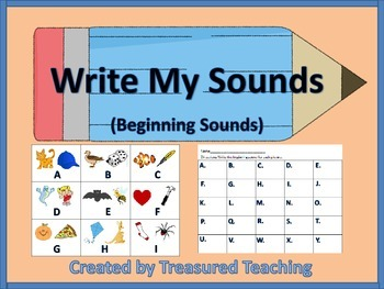 Beginning Sound Writing Activity for Literacy Learning