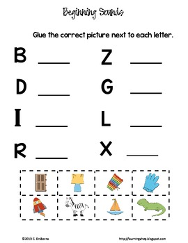 Beginning Sound activity sheets