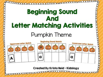 Beginning Sounds and Alphabet Activities