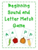 Beginning Sound and Letter Match Game