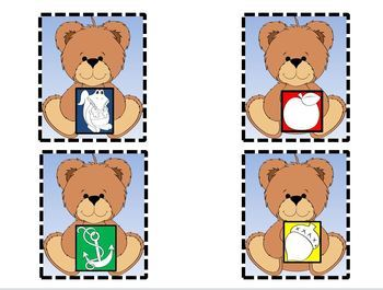 Beginning Sound and Letter Matching Game With Teddy Bear Theme