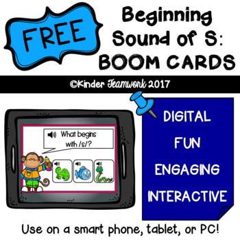 Beginning Sound of S Digital BOOM CARDS {a FREEBIE}