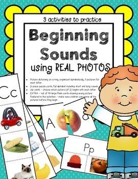 Alphabet Beginning Letter Sounds for Preschool Using Photos
