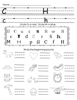 Letter Sounds Practice:  Words their Way