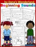 Beginning Sounds Practice Sheets