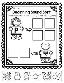 Beginning Sounds Printables