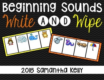 Beginning Sounds Write and Wipe Station