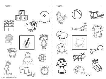 Beginning Sounds 2 Sets Task Cards & Sound Coloring Sheets