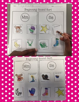 Beginning Sound Sorts {Cut and Paste}