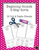 Letter Sound Sorts {Cut and Paste}