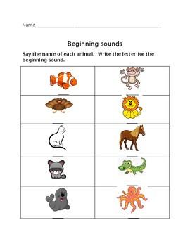 Beginning Sounds #3