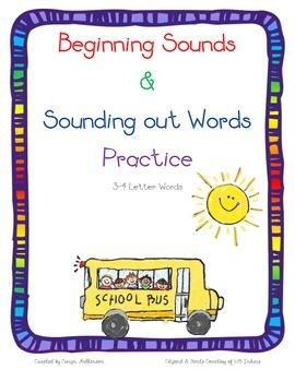 Beginning Sounds 3-4 Letter words