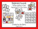 Beginning Sounds 4 in a Row & Matching Games