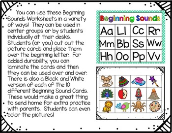Beginning Sounds (A Cover Up Game)