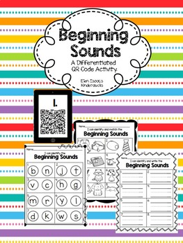 Beginning Sounds: A Differentiated QR Code Resource