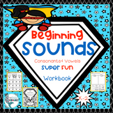 Beginning Sounds A-Z Superheroes, Trace, Color, Color by Code, Cut & Paste!