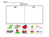 Beginning Sounds: A or C