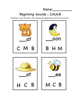 Beginning Sounds A through Z