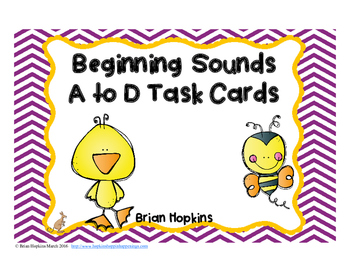 Beginning Sounds A to D Task Cards