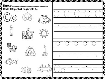 Beginning Sounds ABC Worksheets