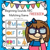 Free Download! Beginning Sounds ABC Matching Game