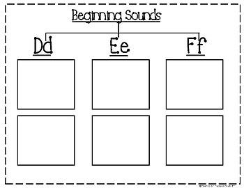 Beginning Sounds ABC Tree Map Journal