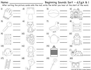 Beginning Sounds Activities
