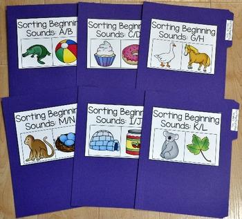 Beginning Sounds Activities Bundle