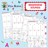 "Beginning Sounds (Activity 1) ""Color, Cut and Paste"""