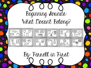 Beginning Sounds Activity Cards