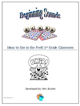 Beginning Sounds Activity: Sound Letter Recognition Bingo Game