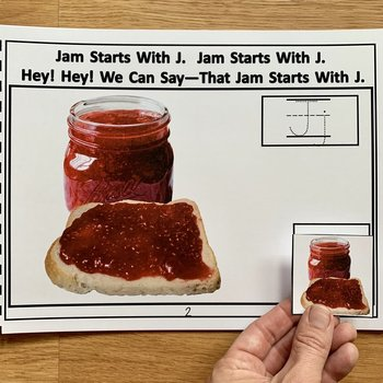 Beginning Sounds Adapted Book And Activities (Starts With J)