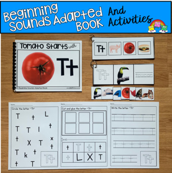 Beginning Sounds Adapted Book And Activities (Starts With T)