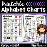 Printable Alphabet Charts With Pictures And Letters