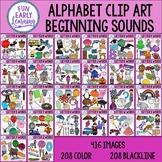 Beginning Sounds Alphabet Clip Art Mega Bundle A-Z - Phoni