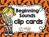 Beginning Sounds/ Alphabet Clip Cards - Halloween Theme