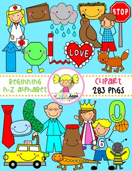 Beginning Sounds {Alphabet Clipart: Letters N-Z}
