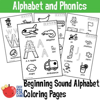 Beginning Sounds Alphabet Coloring Pages (LEEP)