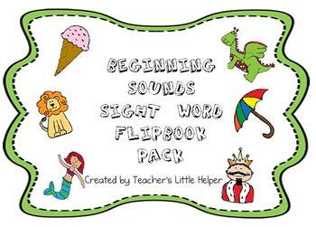 Beginning Sounds Sight Word Flipbook Pack