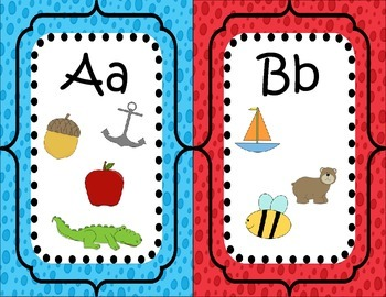 Beginning Sounds Alphabet Line and Picture Cards