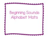 Beginning Sounds Alphabet Mats