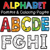 Beginning Sounds Alphabet Posters with Coloring Worksheets