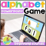 Beginning Sounds PowerPoint Game with Alphabet Flashcards