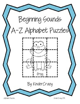 Beginning Sounds Alphabet Puzzles Pack